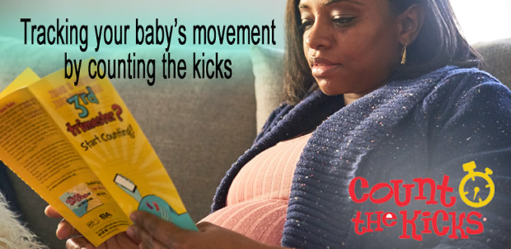 tracking your baby's movement by counting the kicks