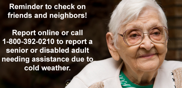 Reminder to check on neighbors and friends this winter
