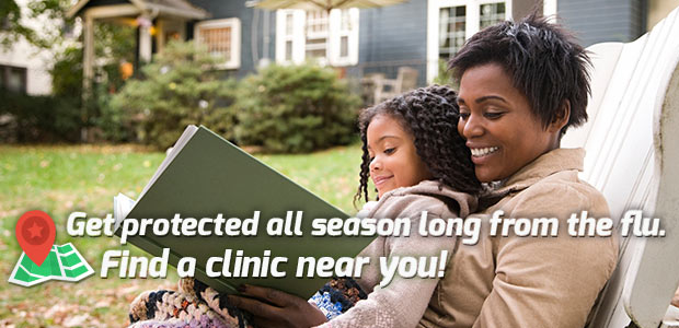 Get protected all season long from the flu - Find a clinic near you!