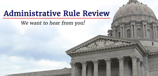 Administrative Rule Review - Let us know what you think