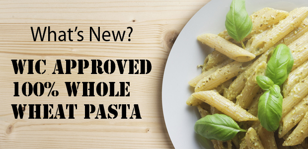 WIC Approved Whole Wheat Pasta