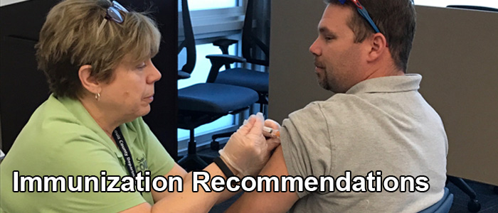 immunization recommendations