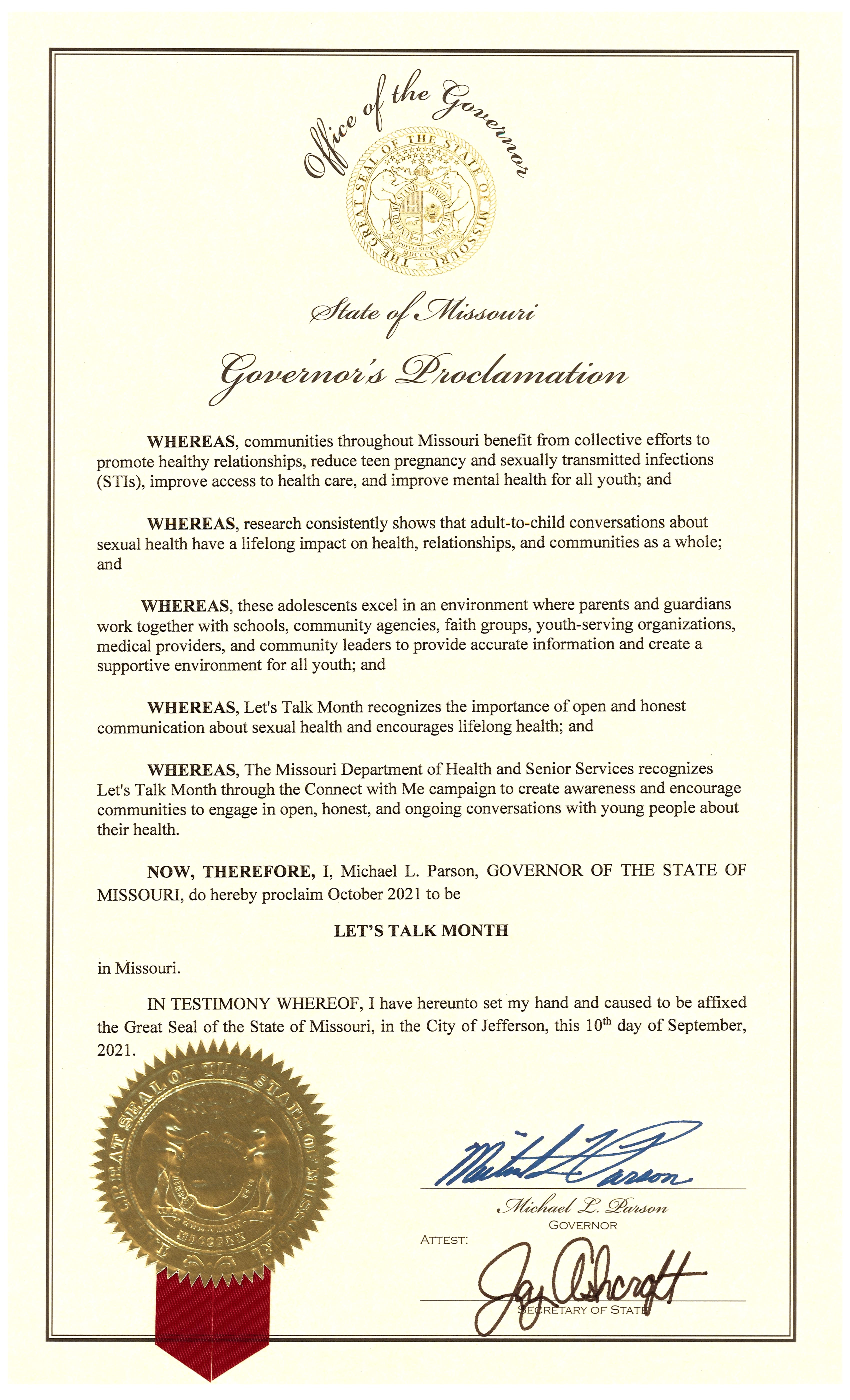 Governor Proclamation