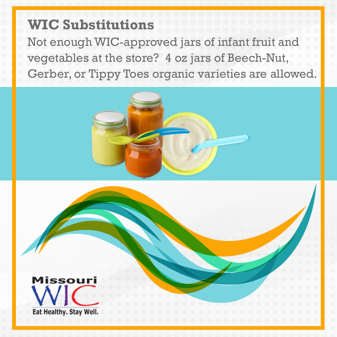 infant food organic jars wic substitutions