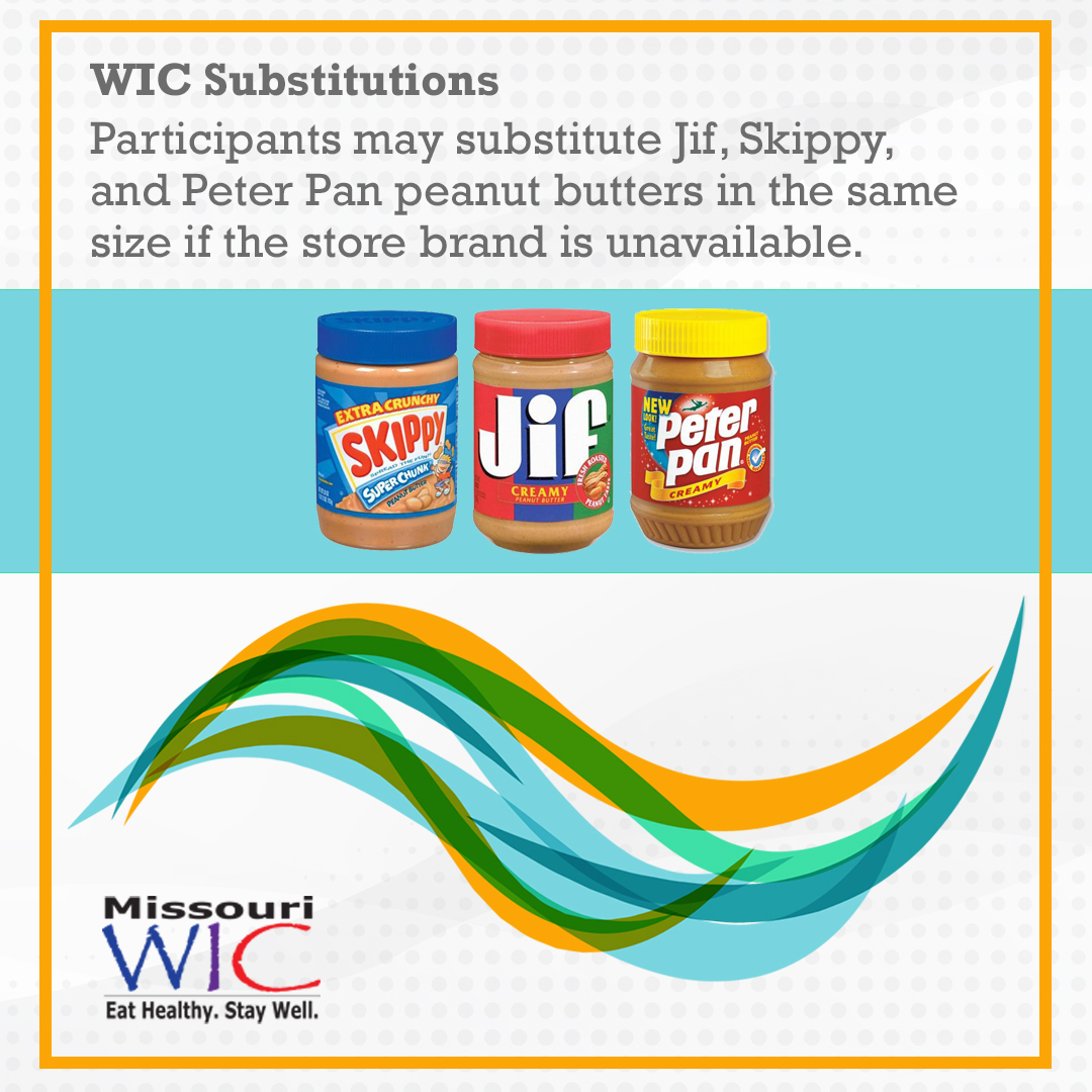 peanut butter wic substitutions
