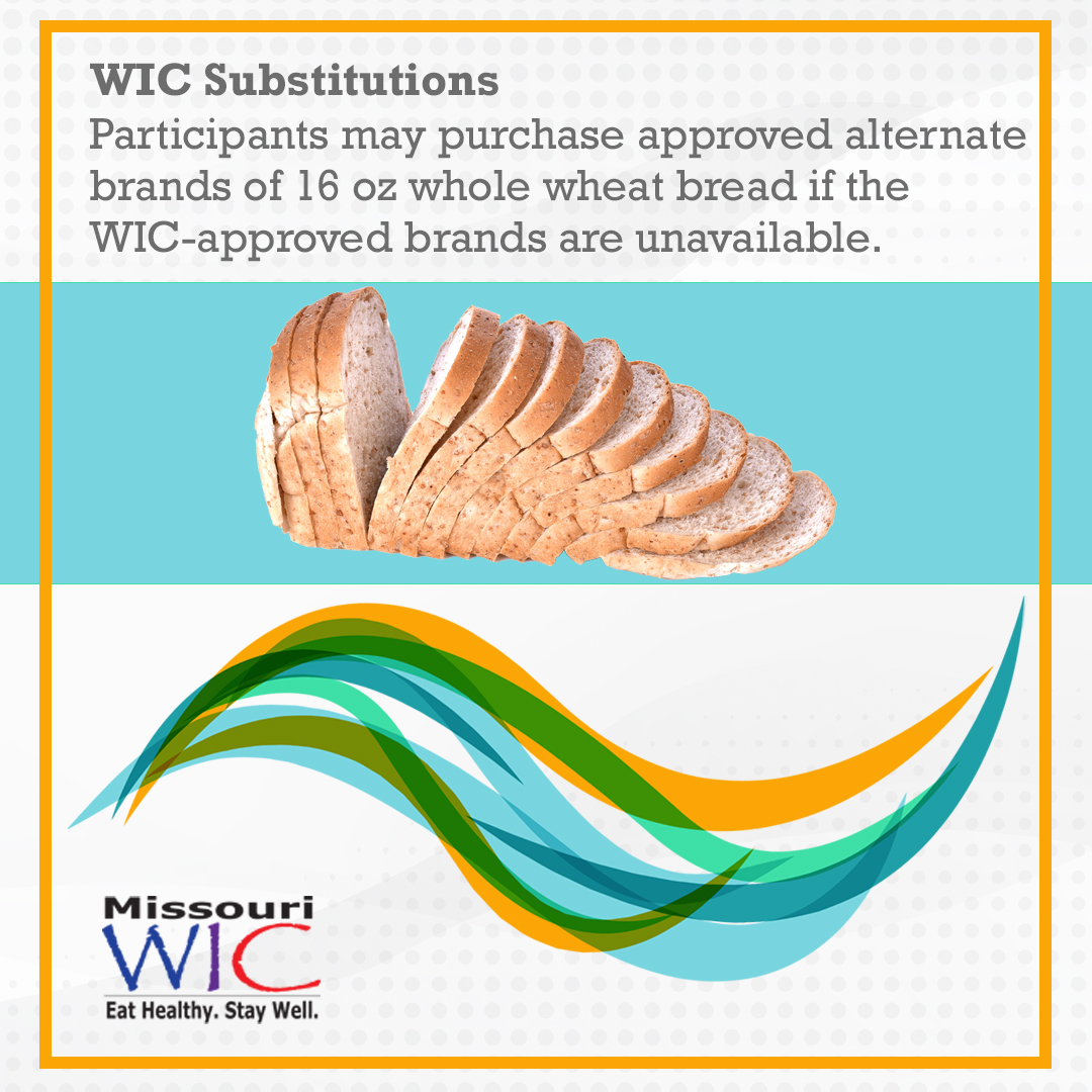 wheat bread wic substitutions
