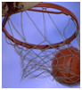 Picture of basketball going through hoop