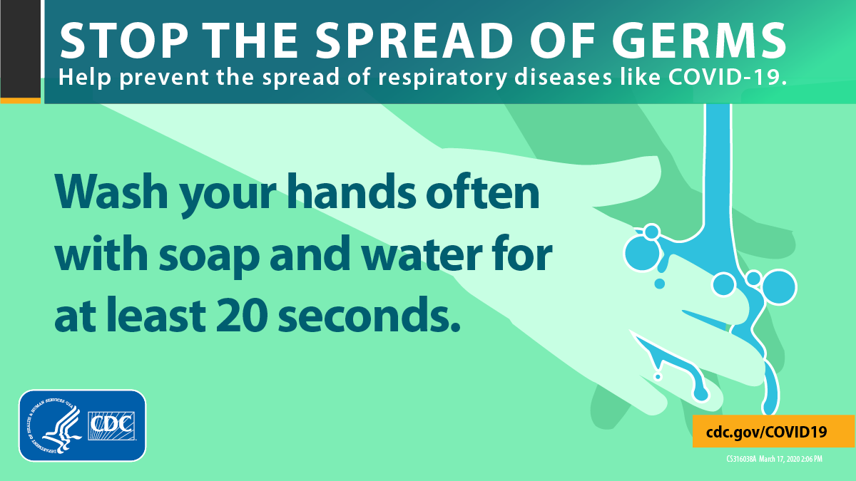 Stop the Spread of Germs, Wash your hands