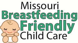 Missouri Breastfeeding Friendly Child Care logo -- picture of a cartoon baby