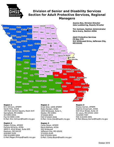 Adult Protective Services Regional Managers