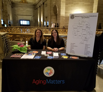Erin Mason and Emily Smith with Aging Matters