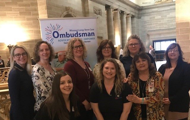 State Office and Regional Ombudsman Coordinators take a break and pose for a photo